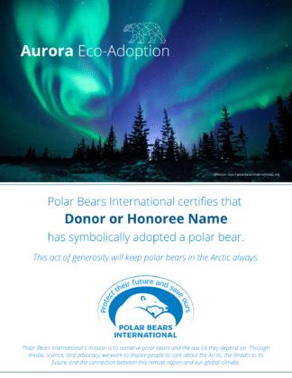 Aurora Eco-Adoption Certificate
