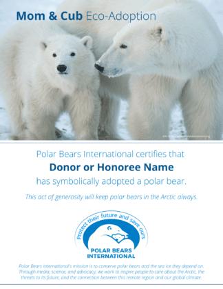 Mom & Cub Eco-Adoption Certificate