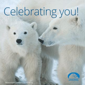 polar-bear-mom-cub-celebrating-ecard